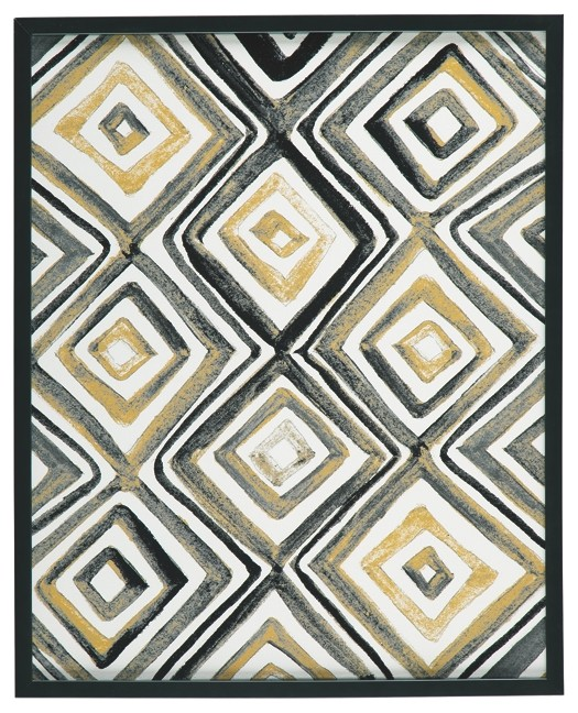 Priela - Black/Gold Finish - Wall Art