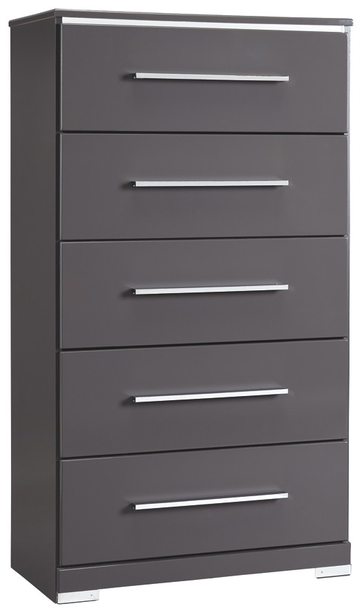 Steelson Gray Five Drawer Chest