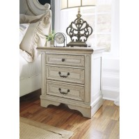 Realyn - Chipped White - Three Drawer Night Stand
