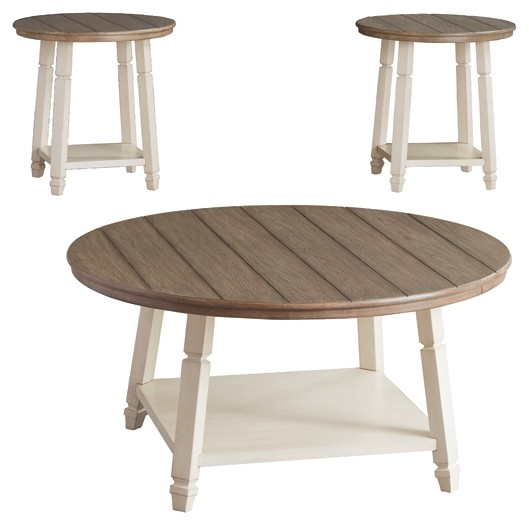Bolanbrook Two Tone Occasional Table Set 3 Cn