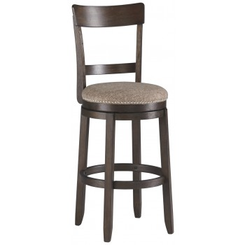 Drewing - Brown - Tall UPH Swivel Barstool(2/CN)