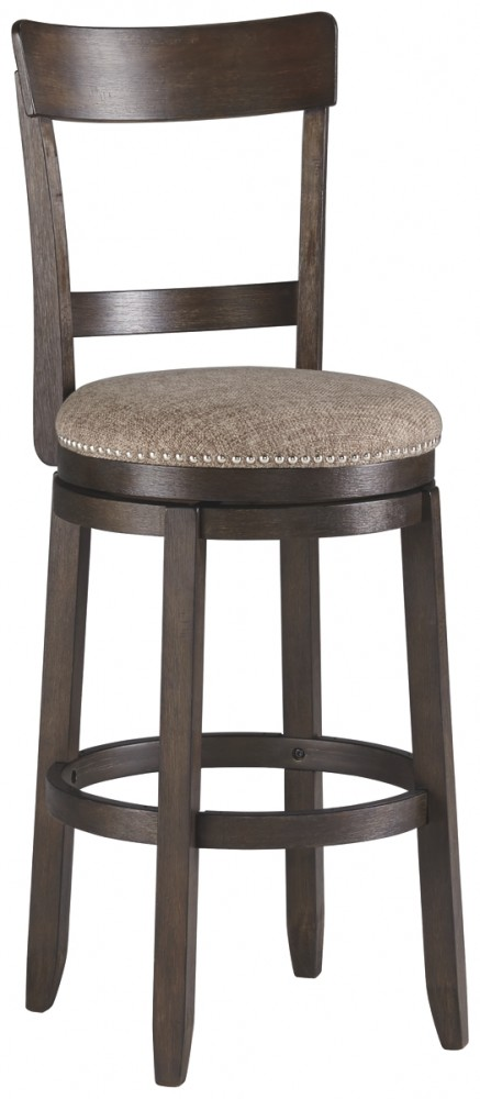 Drewing - Brown - Tall UPH Swivel Barstool(2/CN)