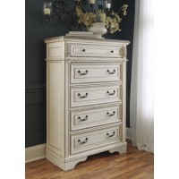 Realyn - Chipped White - Five Drawer Chest