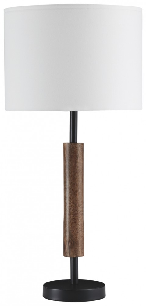 Maliny - Black/Brown - Wood Table Lamp (2/CN)