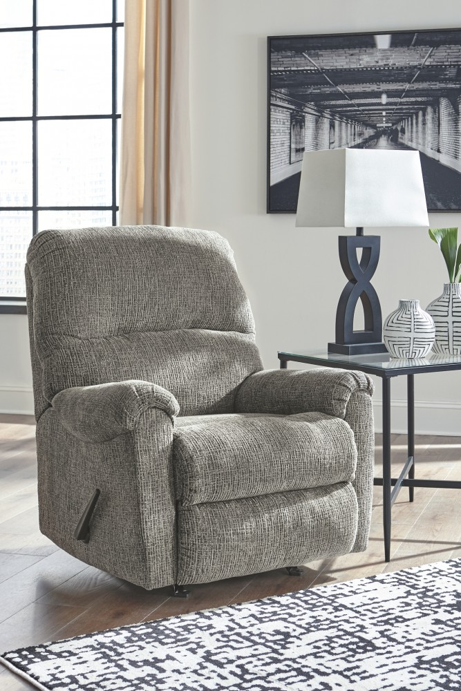 Pruitts Bedroom Furniture: Termoli - Granite - Rocker Recliner
