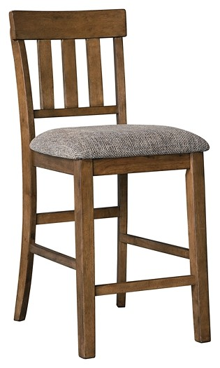 Flaybern - Brown - Upholstered Barstool (2/CN)