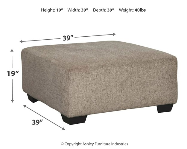 Sensational Ballinasloe Platinum Oversized Accent Ottoman Ocoug Best Dining Table And Chair Ideas Images Ocougorg