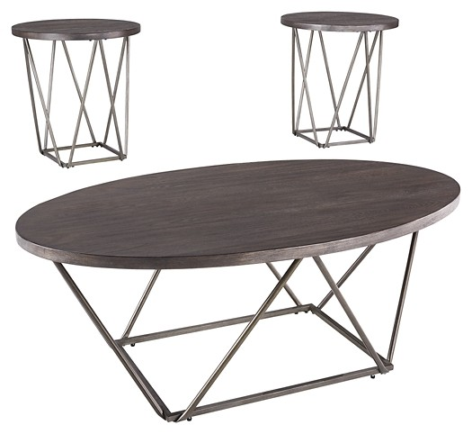 Neimhurst - Dark Brown - Occasional Table Set (3/CN)