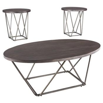 Neimhurst - Dark Brown - Occasional Table Set (3/CN)