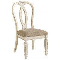 Realyn - Chipped White - Dining UPH Side Chair (2/CN)