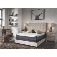10 Inch Chime Elite - White/Blue - Queen Mattress