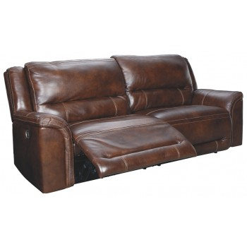 Catanzaro - Mahogany - 2 Seat Reclining Power Sofa