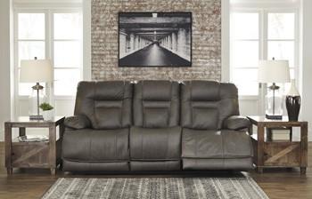 Wurstrow Smoke Pwr Rec Sofa With Adj Headrest