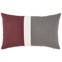 Jacop - Gray/White/Brick Red - Pillow