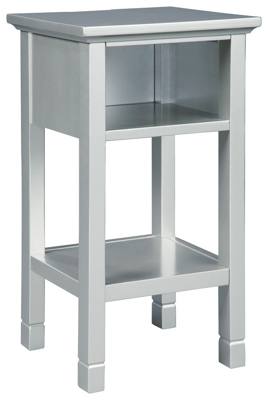 Marinville - Silver Finish - Accent Table