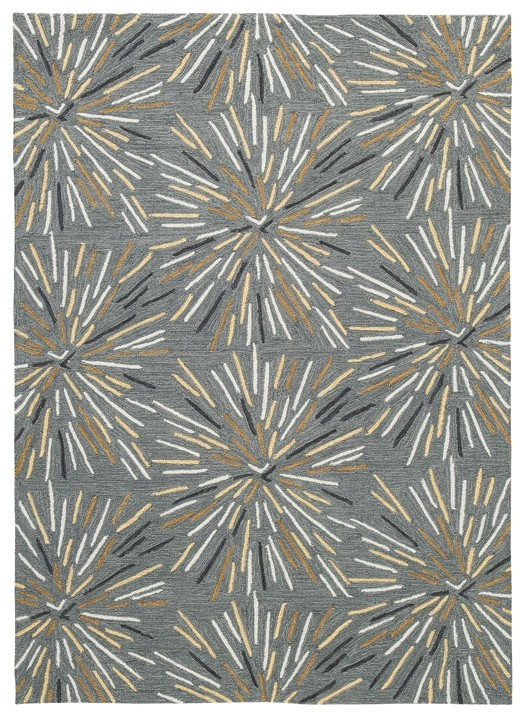 Calendre - Gray/Yellow/White - Large Rug