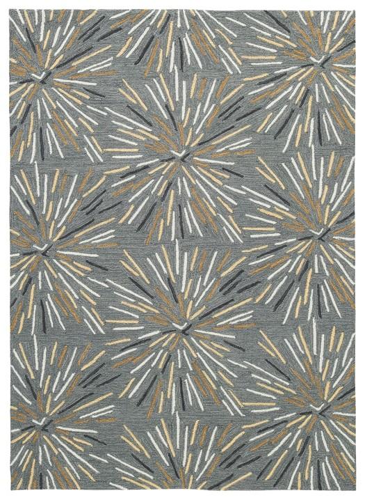 calendre gray yellow white medium rug r402192 rugs economy furniture. Black Bedroom Furniture Sets. Home Design Ideas