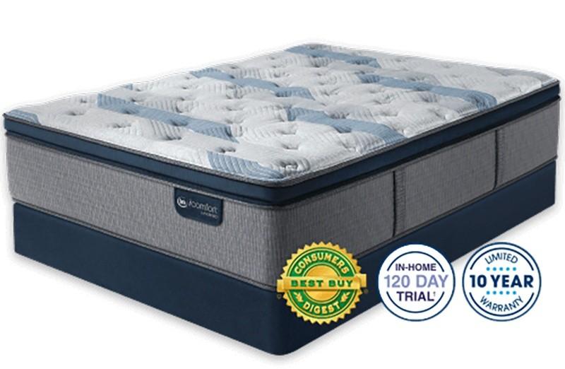 Serta iComfort Hybrid Blue Fusion 300 Plush Pillow Top