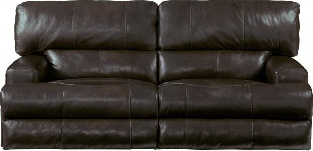 Bon Wembley Chocolate Lay Flat Italian Leather Reclining Sofa