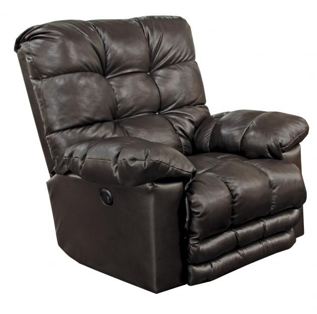 Piazza Chocolate Power Lay-Flat Italian Leather Recliner