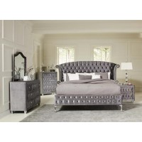DEANNA BEDROOM COLLECTION - Deanna Contemporary Metallic California King Bed