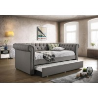 KEPNER DAYBED - Kepner Grey Chesterfield Daybed