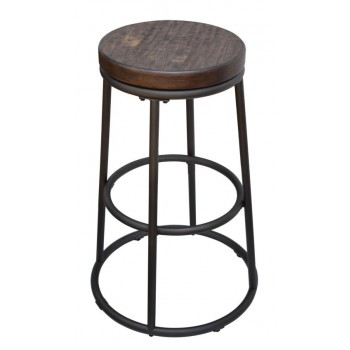 Industrial Rustic Ash 24 Inch Bar Stool Pack Of 2