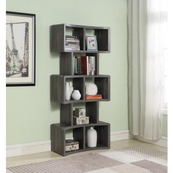 HOME OFFICE : BOOKCASES - Weathered Grey 70