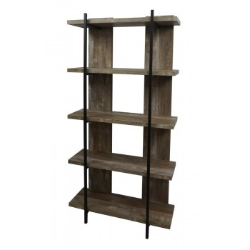 SAMSON COLLECTION - Samson Rustic Weathered Oak Bookcase