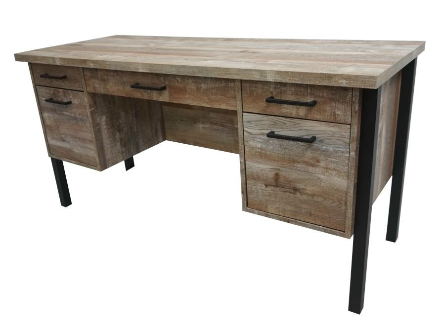 SAMSON COLLECTION - Samson Rustic Weathered Oak Office Desk