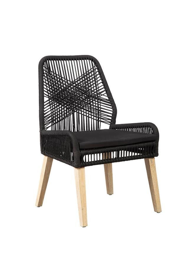 SUNDANCE COLLECTION -  Black and Natural Mango Side Chair (Pack of 2)