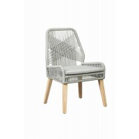 Grey and Natural Mango Side Chair (Pack of 2)
