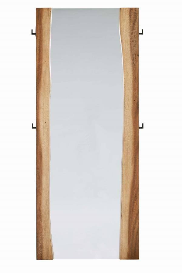 Rustic Smoky Walnut Floor Mirror 212436 Cheval Mirrors