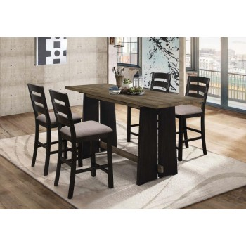 Oakley Industrial Khaki and Black Counter-Height Table