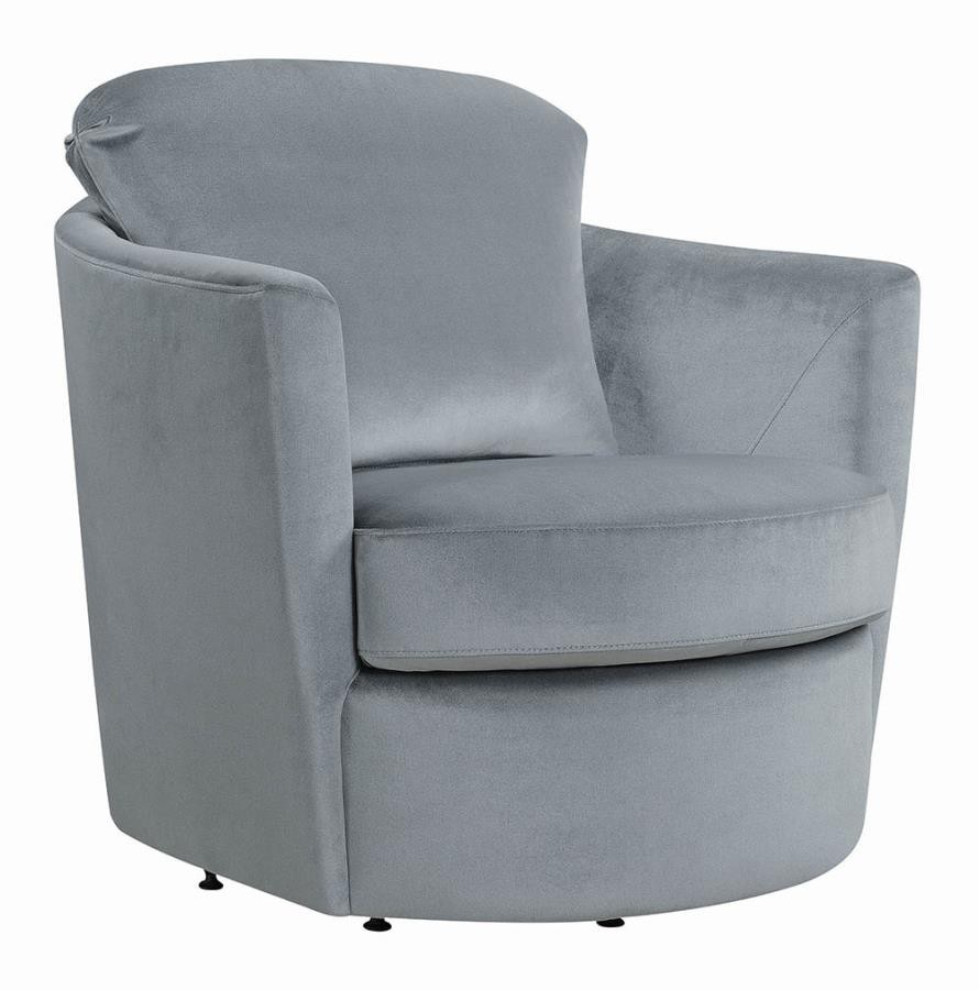 Casual Grey Swivel Accent Chair 904090 Living Room