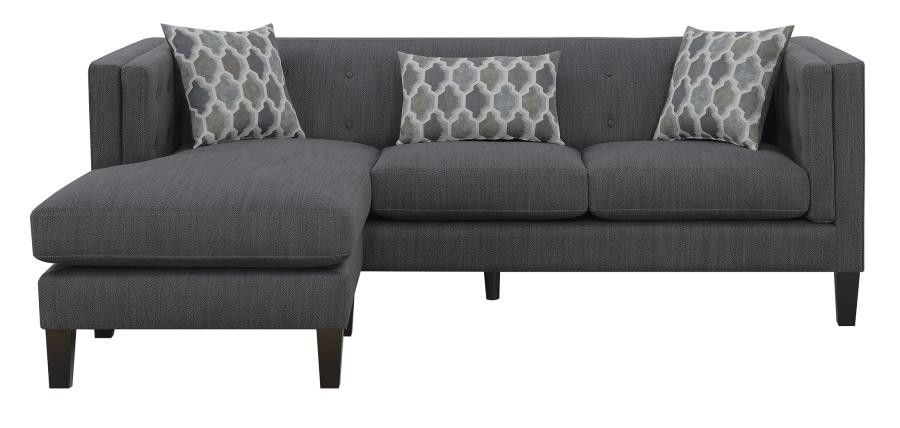 Sawyer Contemporary Dusty Blue Sectional | 511077 | Sectional Sofas ...