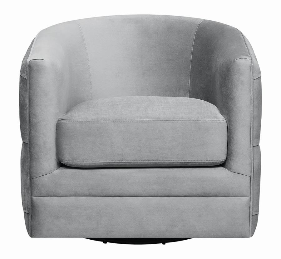 Sensational Modern Grey Swivel Accent Chair Gmtry Best Dining Table And Chair Ideas Images Gmtryco
