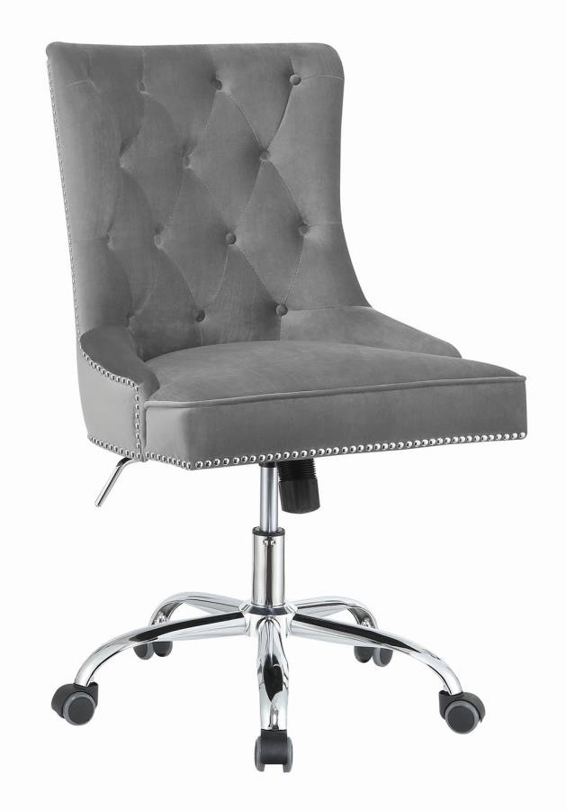 Home Office Chairs Modern Grey Velvet Office Chair 801994 Home Office Desk Chair Midtown Outlet Home Furnishings