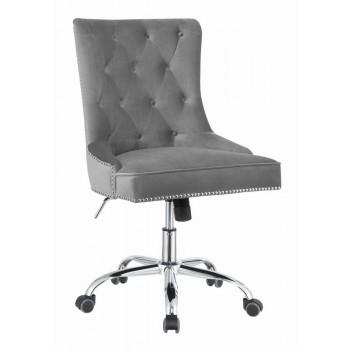 Home Office Chairs Modern Grey Velvet Office Chair 801994 Home Office Chairs Price Busters Furniture