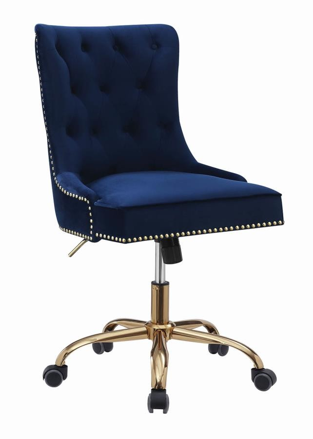Remarkable Home Office Chairs Modern Blue Velvet Office Chair Unemploymentrelief Wooden Chair Designs For Living Room Unemploymentrelieforg