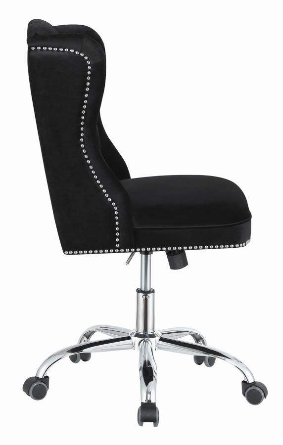Home Office Chairs Modern Black Velvet Office Chair 801995 Home Office Desk Chair Above And Beyond Furniture Superstore