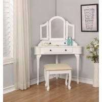 Transitional Cream and White Vanity Set