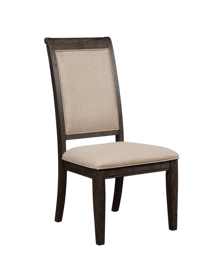 Whitney Traditional Beige and Burnished Black Side Chair (Pack of 2)