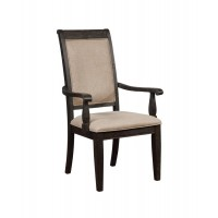 Whitney Traditional Beige and Burnished Black Armchair (Pack of 2)