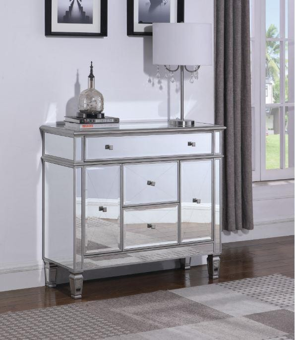 Contemporary Silver Accent Cabinet 950829 Accent