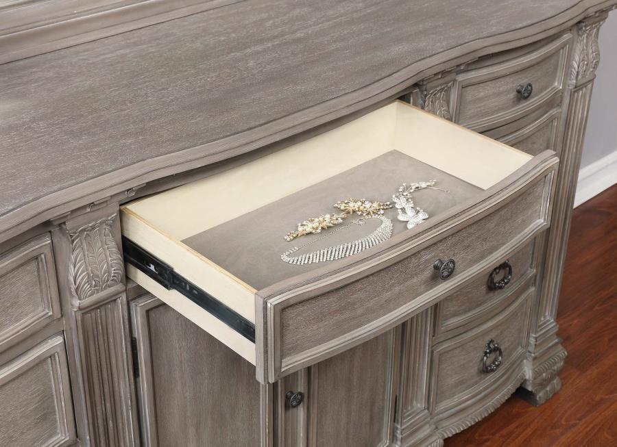 Jenna Vintage Grey Dresser | 215683 | Dressers | Mike\'s Furniture