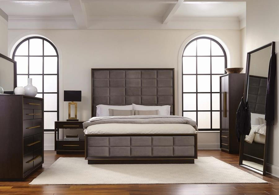Smoked Peppercorn Queen Panel Bed