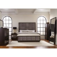 Smoked Peppercorn Queen Panel Bed