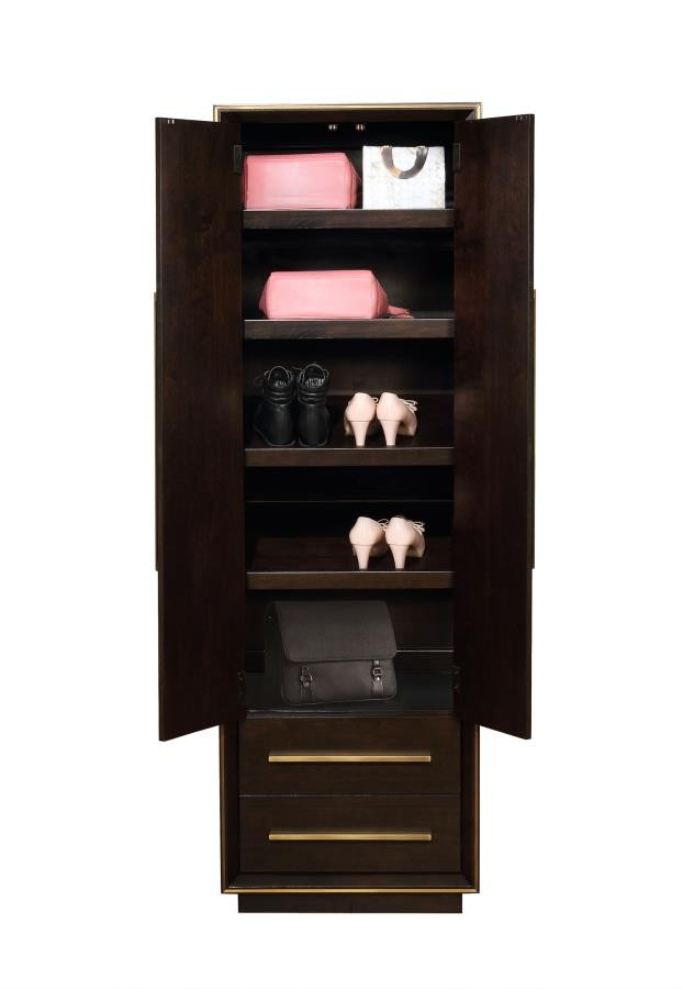 Smoked Peppercorn Shoe Tower 215719 Shoe Rack Price Busters Furniture