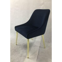 Modern Dark Ink Blue Dining Chair (Pack of 2)